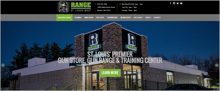 shooting range website project img