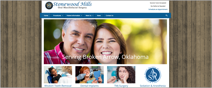 Stonewood Dental Surgeon Web Design Website